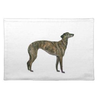 Greyhound (brindle) placemat
