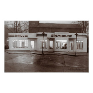 Greyhound Bus Station, McMinnville Tennessee  Poster