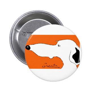 Greyhound Pinback Button