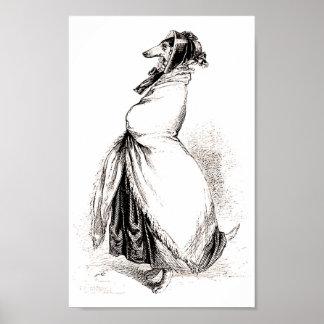Greyhound by Grandville (1803-1847) Poster