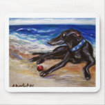 Greyhound by the sea mouse pad
