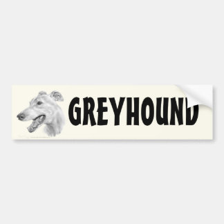 Greyhound Car Bumper Sticker