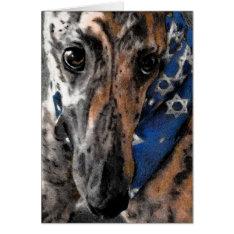 Greyhound Card For Chanukah / Hanukkah / Passover at Zazzle