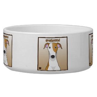 Greyhound Cartoon Bowl