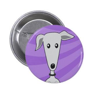 Greyhound Cartoon - Button