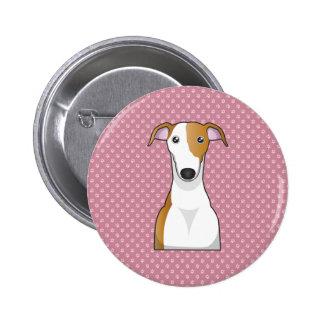 Greyhound Cartoon Pinback Buttons