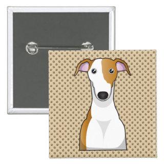 Greyhound Cartoon Buttons
