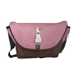 Greyhound Cartoon Courier Bag