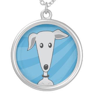 Greyhound Cartoon - Necklace