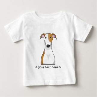 Greyhound Cartoon Personalized Baby T-Shirt