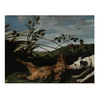 Greyhound Catching a Wild Boar by Frans Snyders Postcard