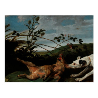 Greyhound Catching a Young Wild Boar Frans Snyders Postcard