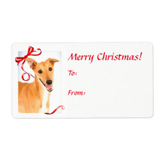 Greyhound Christmas Gift Stickers
