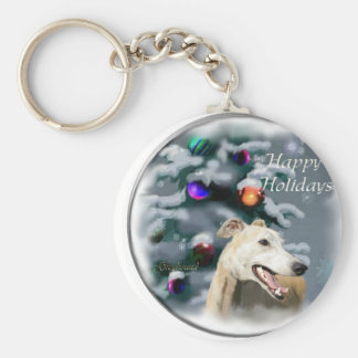 Greyhound Christmas Gifts Keychain