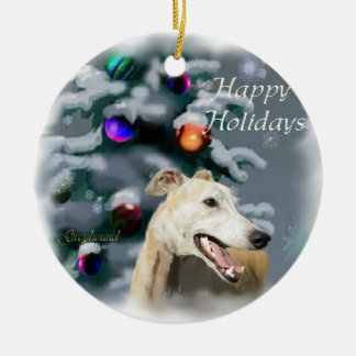 Greyhound Christmas Gifts Ornament