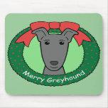 Greyhound Christmas Mousepads