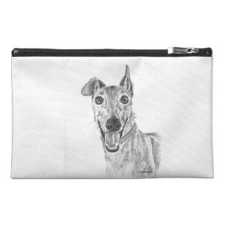 Greyhound Closeup Drawing Travel Accessory Bag