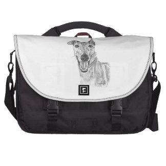 Greyhound Closeup Drawing Bag For Laptop