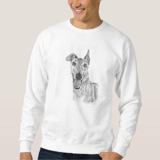 Greyhound Closeup Drawing Sweatshirt