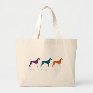 Greyhound Color My World with Joy Canvas Bag
