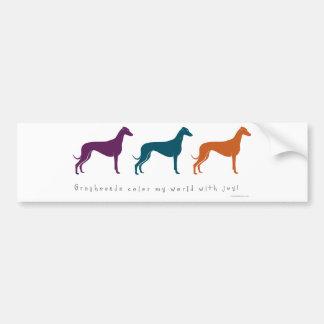 Greyhound Color My World with Joy! Bumper Sticker