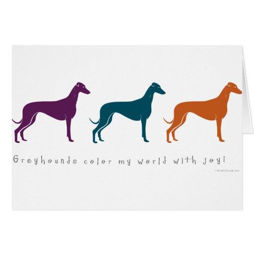 Greyhound Color My World with Joy! Card