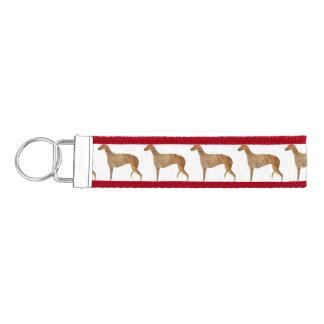 greyhound color silo wrist keychain