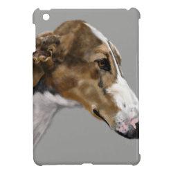 Case Savvy iPad Mini Glossy Finish Case with Greyhound Phone Cases design