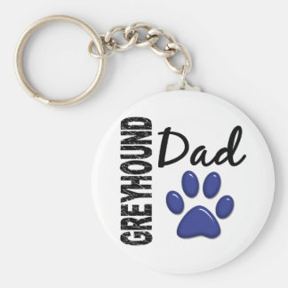 Greyhound Dad 2 Keychain