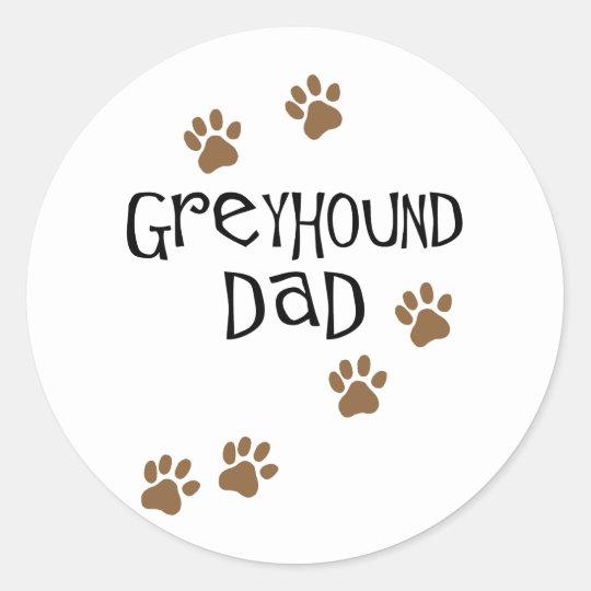 Greyhound Dad Classic Round Sticker