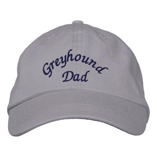 Greyhound Dad Cute Embroidered Baseball Cap  e6a99ca7297