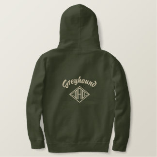 Greyhound Dad Gifts Embroidered Hoodie