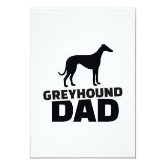 """Greyhound Dad 3.5"""" X 5"""" Invitation Card"""