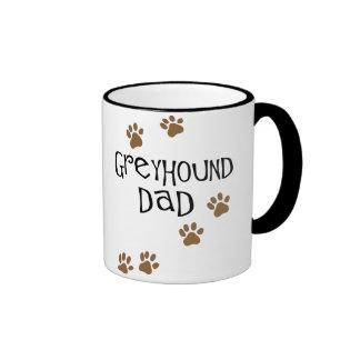Greyhound Dad Ringer Coffee Mug