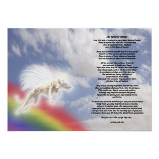 Greyhound Dog Angel At Rainbow Bridge Poster