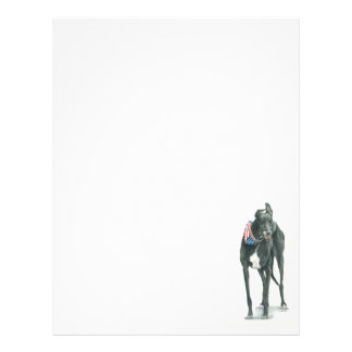 Greyhound Dog Art Letter Head Stationery