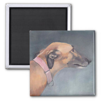 Greyhound Dog Art Magnet