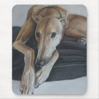 Greyhound Dog Art Mousepad