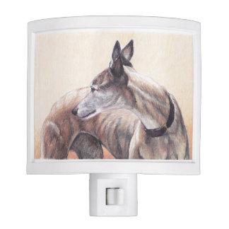 Greyhound Dog Art Night Light