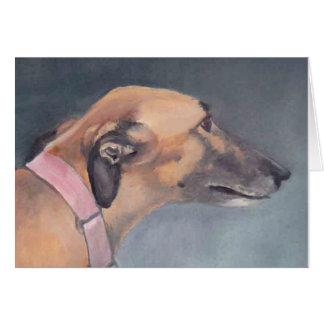 Greyhound Dog Art Note Card