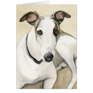 Greyhound Dog Art Notecard Stationery Note Card