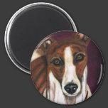 Greyhound Dog Art - Royalty 2 Inch Round Magnet