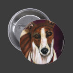 Greyhound Dog Art - Royalty Button