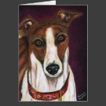 Greyhound Dog Art - Royalty Card