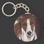 Greyhound Dog Art - Royalty Keychain