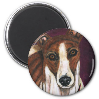 Greyhound Dog Art - Royalty Magnet