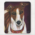 Greyhound Dog Art - Royalty Mouse Pad