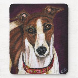 Greyhound Dog Art - Royalty Mousepad
