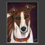 Greyhound Dog Art - Royalty Postcard