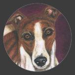 Greyhound Dog Art - Royalty Stickers